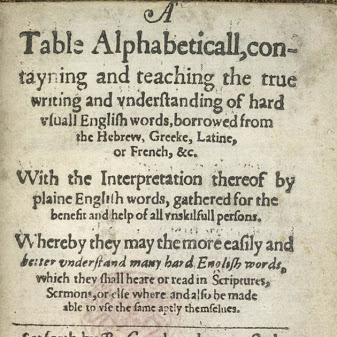 English Dictionary - Robert Cawdrey