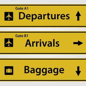 Using English at the Airport - signs